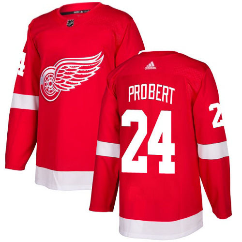 Bob Probert Detroit Red Wings Adidas Authentic Home NHL Hockey Jersey