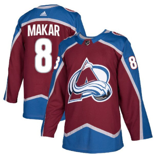 Cale Makar Colorado Avalanche Adidas Authentic Home NHL Hockey Jersey