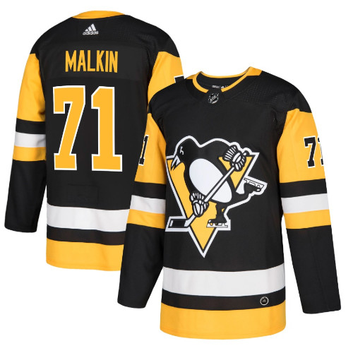 Evgeni Malkin Pittsburgh Penguins Adidas Authentic Home NHL Hockey Jersey