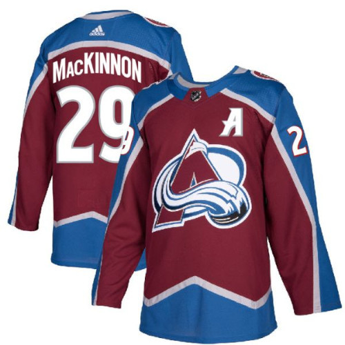 Nathan MacKinnon Colorado Avalanche Adidas Authentic Home NHL Hockey Jersey