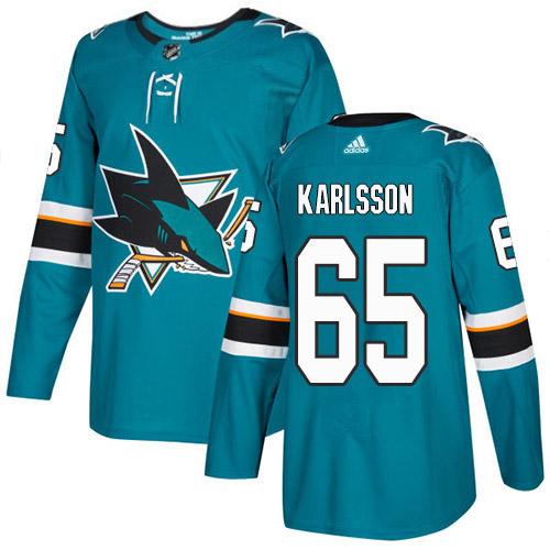 Erik Karlsson San Jose Sharks Adidas Authentic Home NHL Hockey Jersey