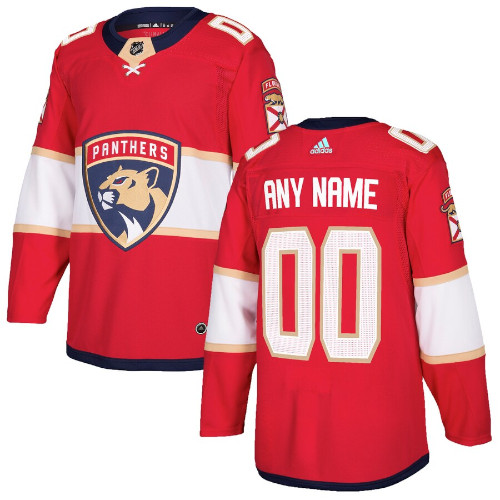 Florida Panthers Adidas Authentic Hockey Jersey Any Name and Number