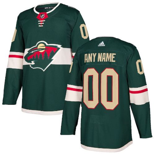 Minnesota Wild Adidas Authentic Hockey Jersey Any Name and Number
