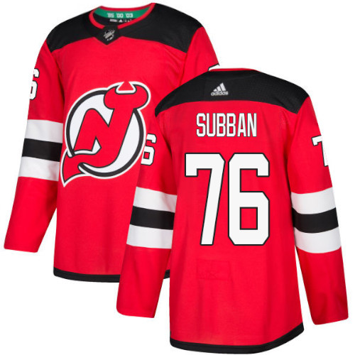 P.K. Subban New Jersey Devils Adidas Authentic Home NHL Hockey Jersey