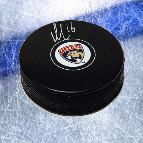 Aleksander Barkov Florida Panthers Signed Hockey Puck