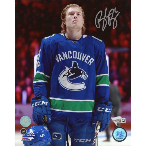 Brock Boeser Vancouver Canucks Signed 8x10 Close Up Photo