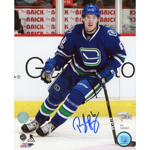 Brock Boeser Vancouver Canucks Signed 8x10 Rookie Photo