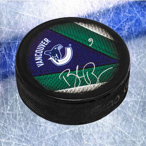 Brock Boeser Vancouver Canucks Signed Souvenir Hockey Puck
