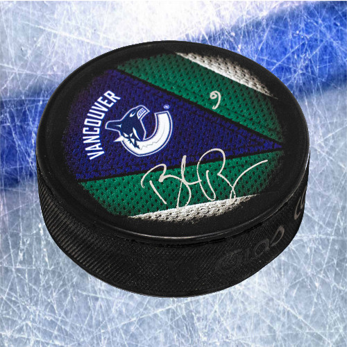 Brock Boeser Vancouver Canucks Signed Souvenir Hockey Puck