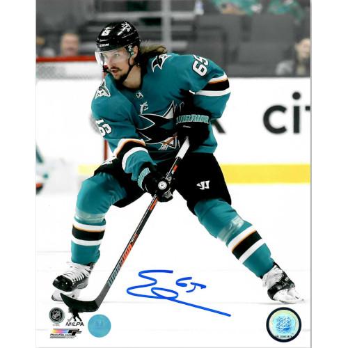 Erik Karlsson San Jose Sharks Autographed 8X10 Photo