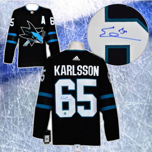 Erik Karlsson San Jose Sharks Autographed Adidas Alternate Jersey