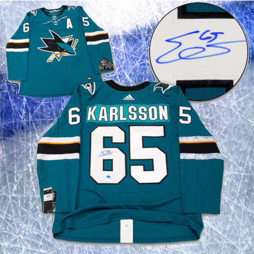Erik Karlsson San Jose Sharks Autographed Adidas Home Jersey