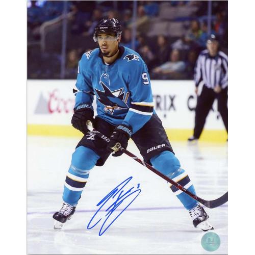 Evander Kane San Jose Sharks Autographed 8X10 Photo