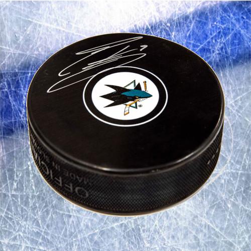 Evander Kane San Jose Sharks Autographed Hockey Puck