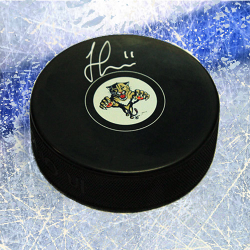 Jonathan Huberdeau Florida Panthers Signed Hockey Puck