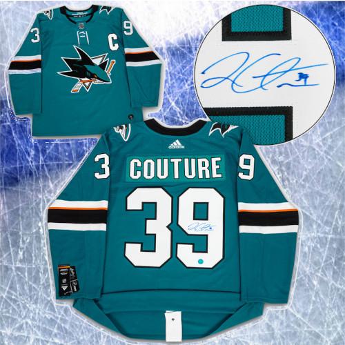 Logan Couture San Jose Sharks Autographed Adidas Home Jersey