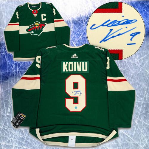 Mikko Koivu Minnesota Wild Autographed Adidas Home Jersey