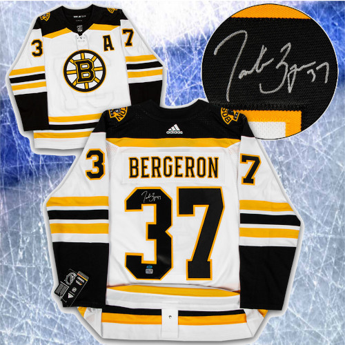 Patrice Bergeron Boston Bruins Signed Adidas Away Hockey Jersey