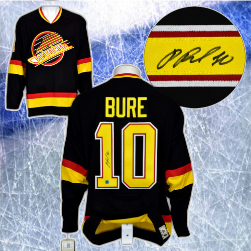 Pavel Bure Vancouver Canucks Signed Adidas Vintage Hockey Jersey