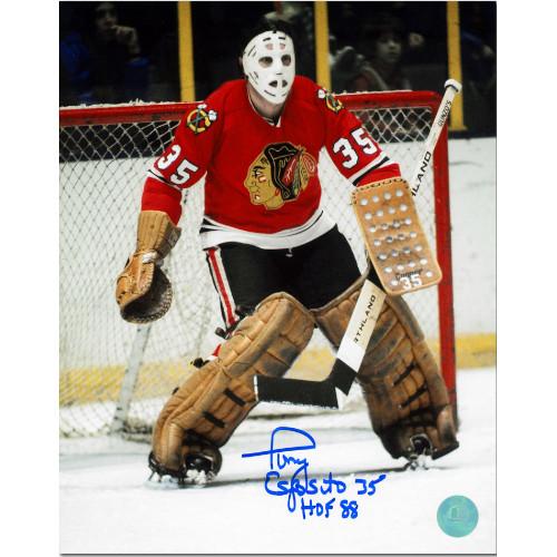 Tony Esposito Chicago Blackhawks Signed 8x10 Photo