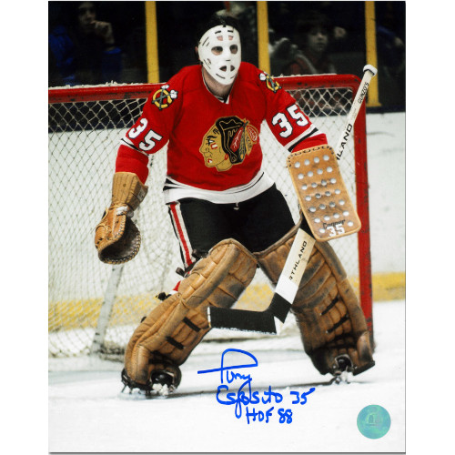Tony Esposito Chicago Blackhawks Signed 8x10 Photo
