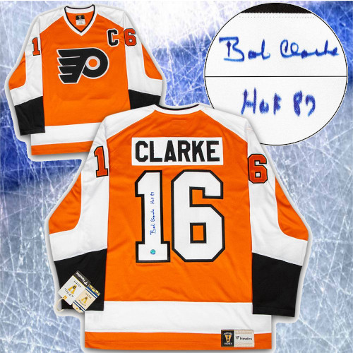 Bobby Clarke Philadelphia Flyers Signed Vintage Fanatics Hockey Jersey