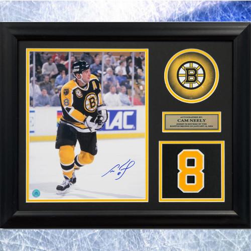Cam Neely Framed Boston Bruins Signed Retired Jersey Number 20x24