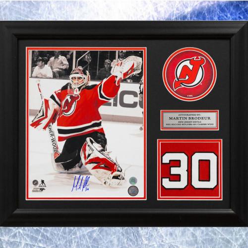 Martin Brodeur Framed New Jersey Devils Autographed Retired Jersey Number 20x24