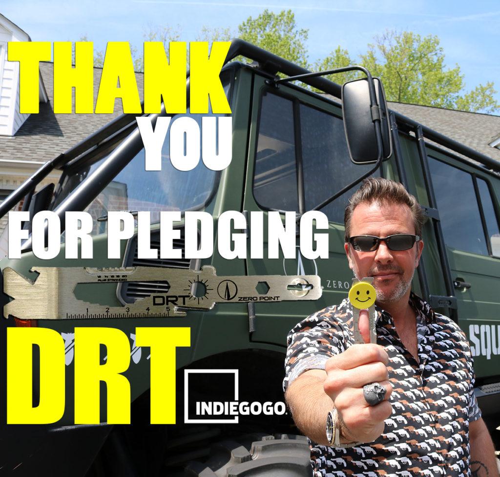 Indiegogo Thank You DRT Perry Sasnett