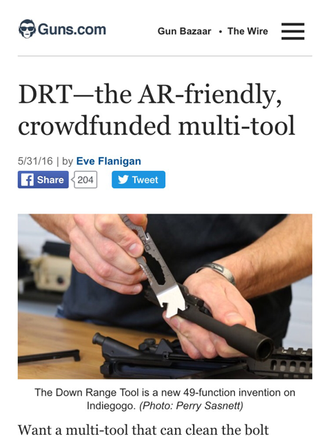 The DRT Down Range Tool Featured on Guns.com