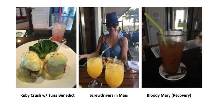 Ruby Crush, Screwdrivers, Bloody Mary