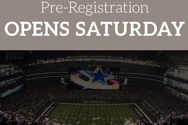 Pre-registration is open!