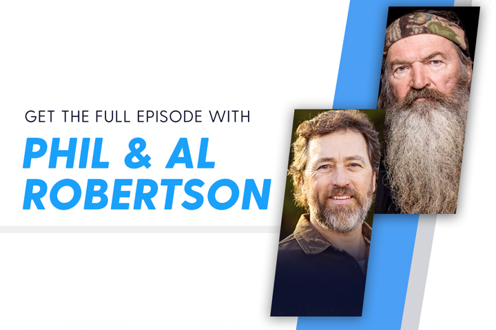 In 'On the Edge with Ken Harrison,' Duck Dynasty's Phil and Al Robertson Share The Rock Bottom Moments That Brought Their Surrender To Christ