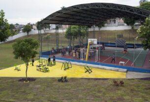 Aulas de atletismo no Parque da Cidade