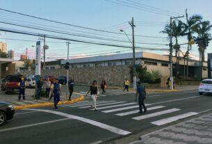 Faixa de pedestre em Mogi das Cruzes