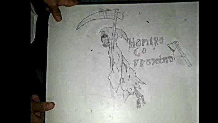 Desenho Morte - Escola Homero - Itaquaquecetuba