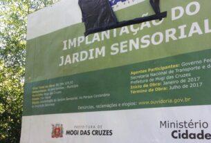 Jardim sensorial - Parque Centenário - Mogi das Cruzes