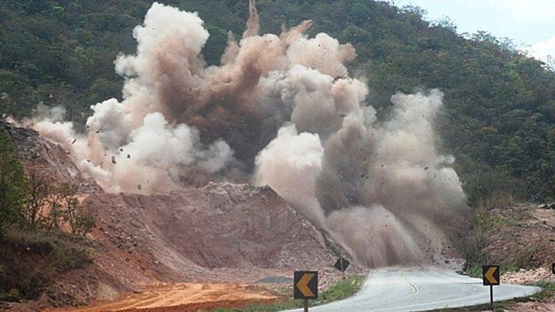 Detonação de rocha