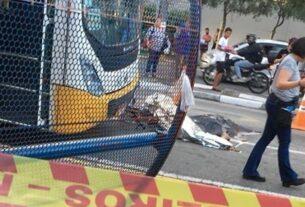 Acidente ciclista Praça do Socorro - Mogi das Cruzes