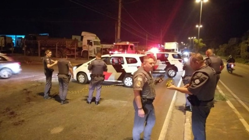 PM ferida em abordagem policial - Mogi das Cruzes