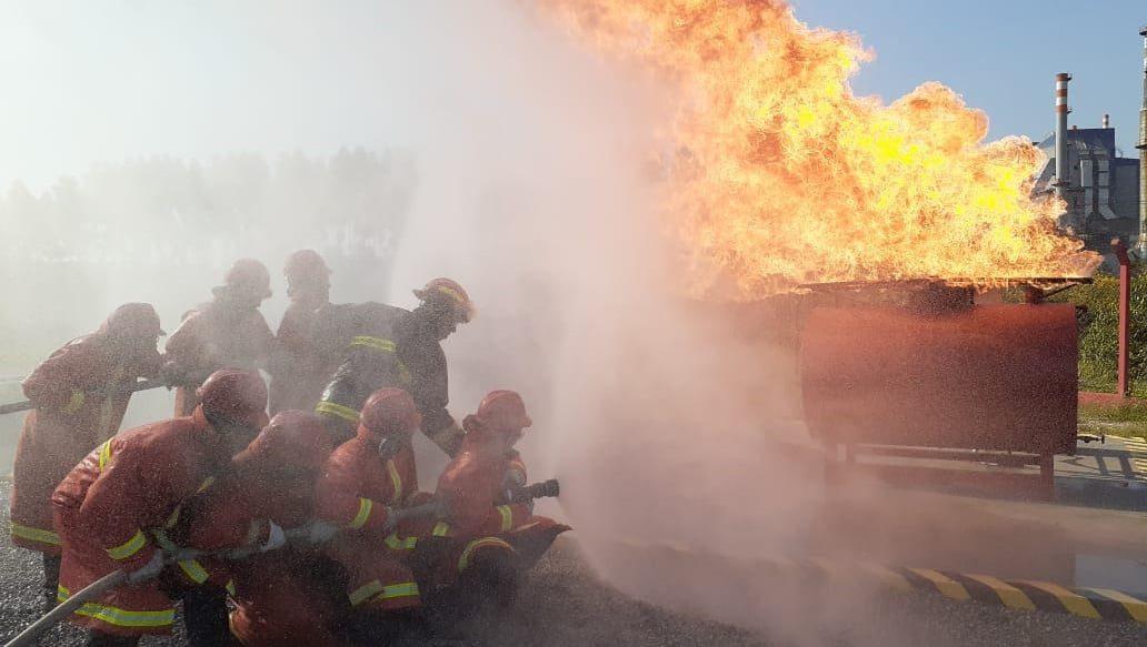 Brigada de incêndio da Suzano