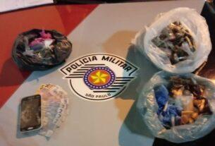 Drogas apreendidas pela PM em Jundiapeba