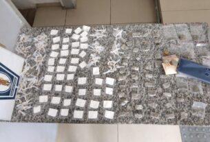 Drogas apreendidas pela Guarda Municipal de Mogi das Cruzes