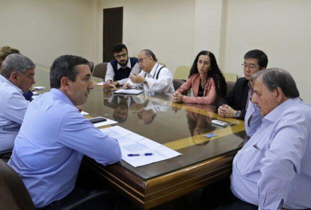 Reunião entre o prefeito de Mogi das Cruzes, Marcus Melo, e o secretário estadual de saúde de São Paulo
