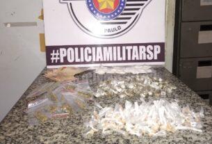 Drogas apreendidas pela PM em Cezar de Souza