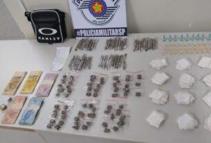 Drogas apreendidas pela PM em Itaquaquecetuba