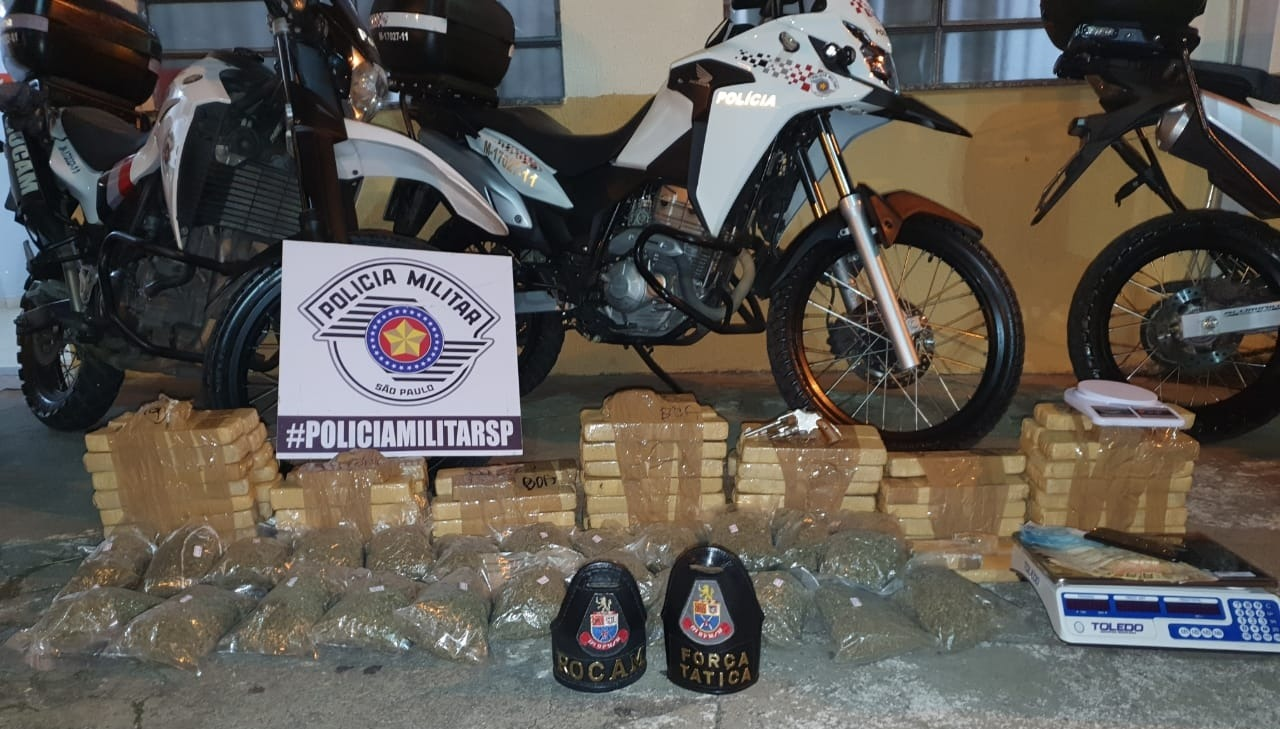 Drogas apreendidas pela PM SP em Mogi das Cruzes