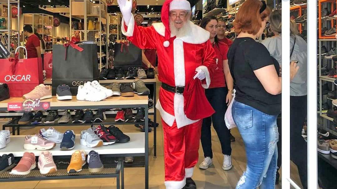 Papai Noel no centro de Mogi das Cruzes