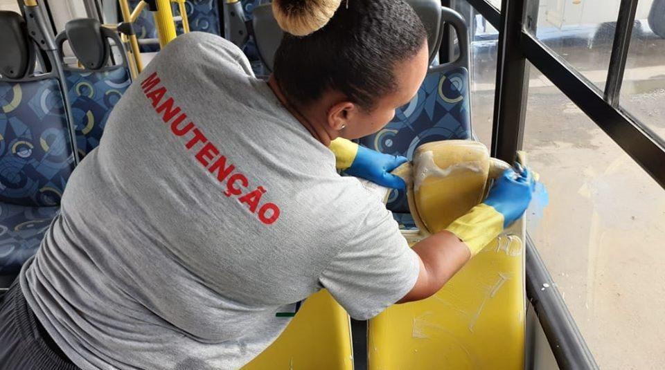 Higienização de ônibus - Radial Transportes