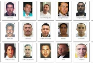 Criminosos mais procurados do país